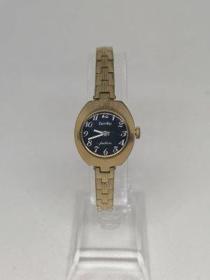 ZentRa Watch With Metal Strap gold-colored-blue