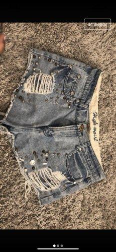 Zerfranste High waist Shorts