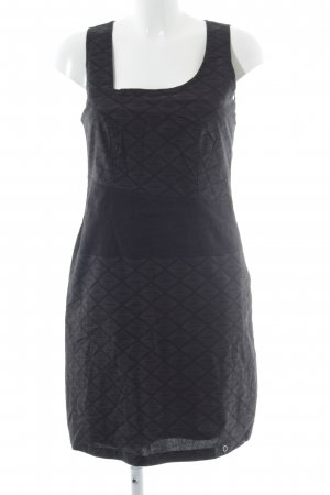 Zergatik Minikleid schwarz abstraktes Muster Elegant