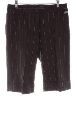 Zero 3/4 Length Trousers black-natural white striped pattern casual look