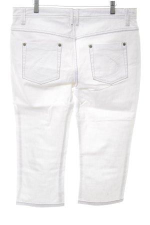 Zero 3/4-Hose weiß schlichter Stil