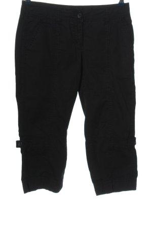 Zero Pantalon 7/8 noir style décontracté