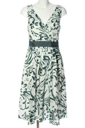 Zero A Line Dress white-green abstract pattern elegant