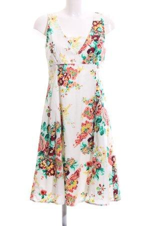 Zero A Line Dress white allover print elegant