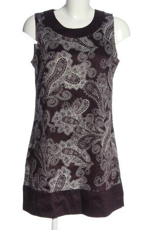 Zero A-Linien Kleid lila-weiß Allover-Druck Casual-Look