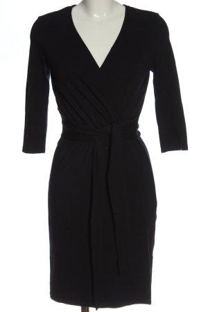 Zero Kopertowa sukienka czarny W stylu casual