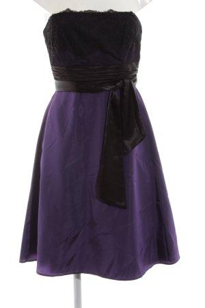 Zero Abendkleid schwarz-lila Elegant