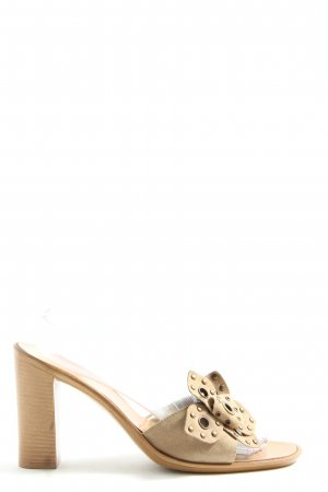 Zero Heel Pantolettes natural white casual look
