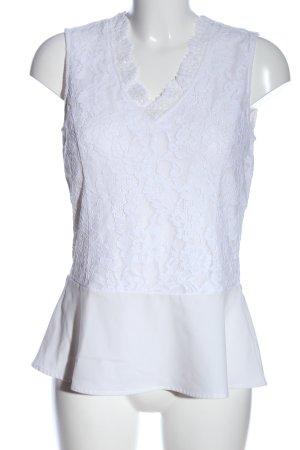 Zero ärmellose Bluse weiß Elegant