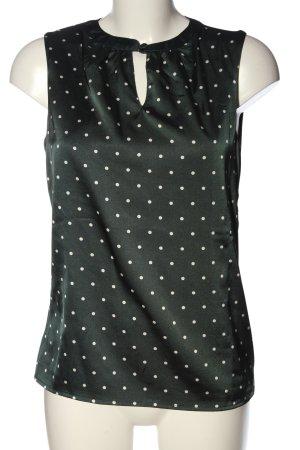 Zero ärmellose Bluse schwarz-weiß Punktemuster Casual-Look