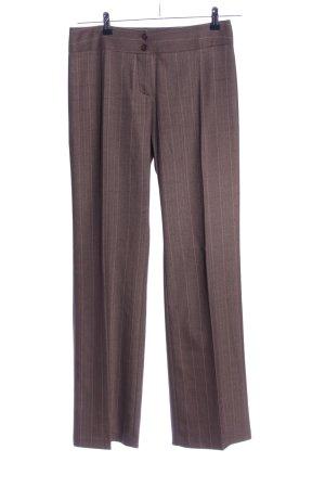 Zero Pantalon bruin gestreept patroon casual uitstraling