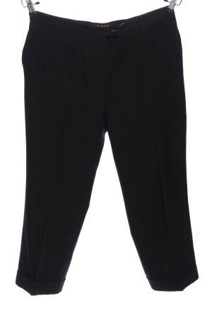 Zero Pantalone da abito nero stile casual