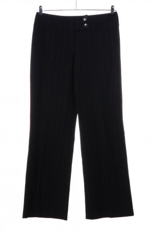 Zero Pantalón de vestir negro estampado a rayas estilo «business»