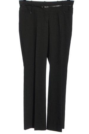 Zero Pantalón de vestir negro-blanco puro moteado look casual