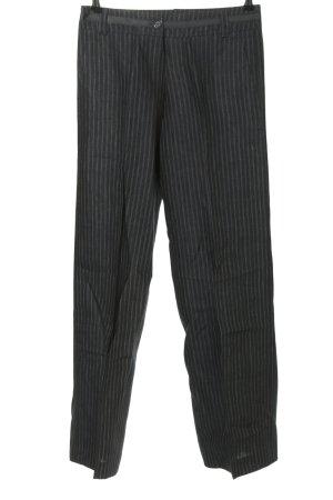 Zero Spodnie garniturowe czarny-biały Wzór w paski W stylu biznesowym