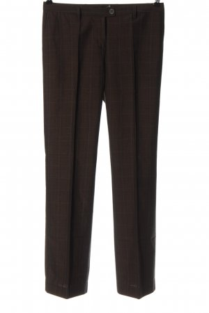 Zero Suit Trouser brown check pattern business style