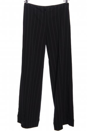 Zero Anzughose schwarz-weiß Streifenmuster Business-Look