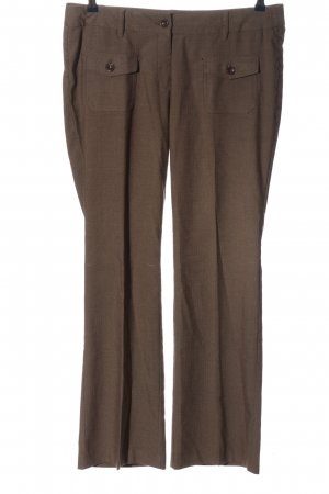 Zero Baggy Pants brown allover print business style