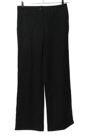 Zero Base Marlene Dietrich broek zwart gestreept patroon casual uitstraling