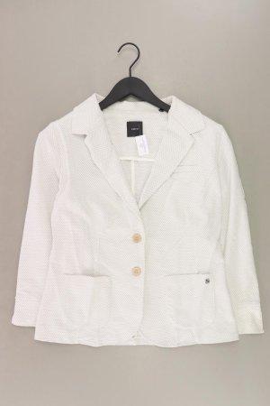 Zero Blazer Größe 38 weiß aus Baumwolle