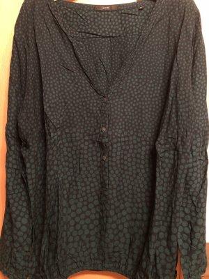 Zero Bluse - getupft - schwarz-grün - mit schönem Ausschnitt- Gr. 44