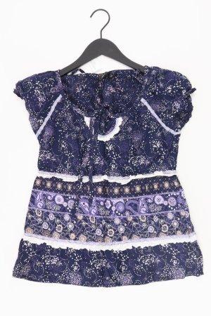 Zero Bluse Größe 34 blau aus Baumwolle