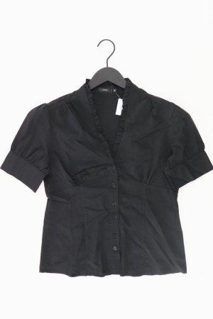 Zero Bluse Größe 38 schwarz aus Baumwolle