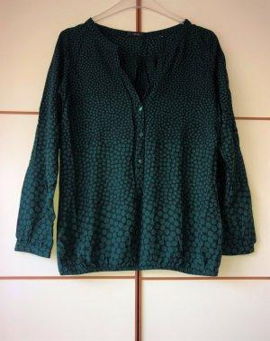 Zero Bluse Tunika grün dunkelgrün gepunktet 40 Neu