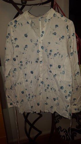 Zero Bluse weiß blau Gr.40 (42)