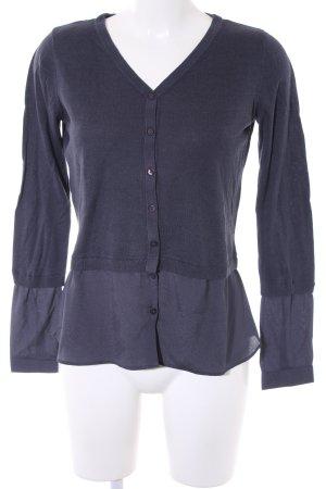 Zero Empiècement de blouses bleu foncé style décontracté