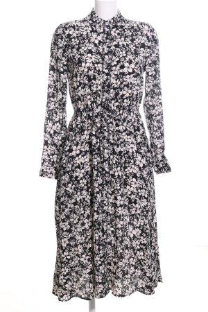 Zero Blusenkleid schwarz-creme Blumenmuster Elegant