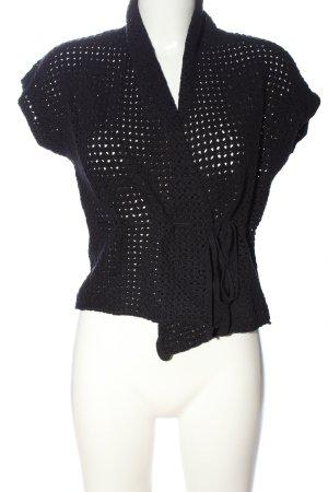 Zero Crochet Cardigan black casual look