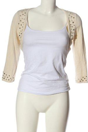 Zero Bolerko biały-w kolorze białej wełny W stylu casual