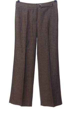 Zero Bundfaltenhose braun meliert Business-Look