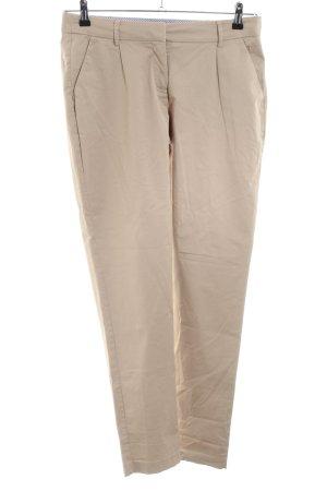 Zero Pantalon à pinces crème style décontracté