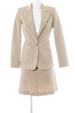 Zero Business-Anzug camel-dunkelbraun Streifenmuster Business-Look