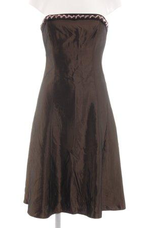 Zero Vestido bustier color bronce elegante