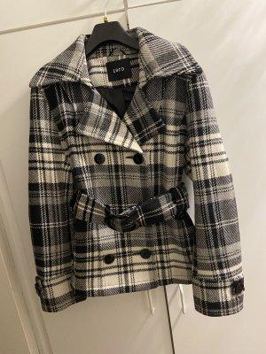 Zero Heavy Pea Coat black-white