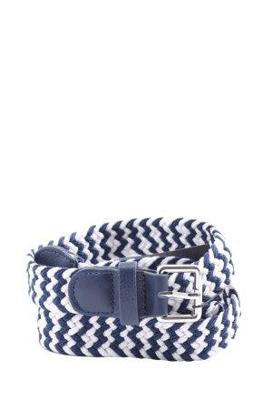 Zero Cinturón de lona azul-blanco look casual