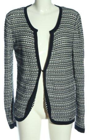 Zero Cardigan schwarz-weiß Streifenmuster Casual-Look