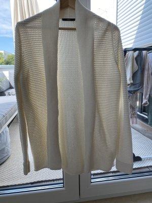 Zero Szydełkowany sweter w kolorze białej wełny