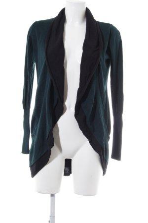 Zero Cardigan schwarz-dunkelgrün Casual-Look