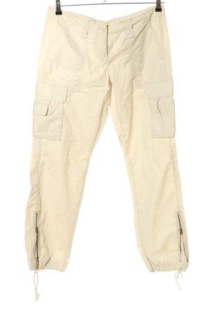 Zero Pantalone cargo crema stile casual