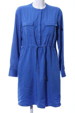 Zero Vestido de camuflaje azul look casual