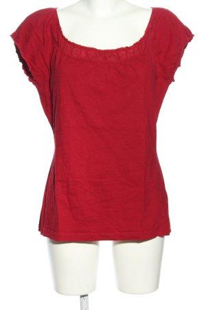 Zero Carmen shirt rood casual uitstraling