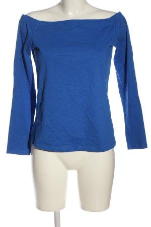 Zero Carmen shirt blauw casual uitstraling