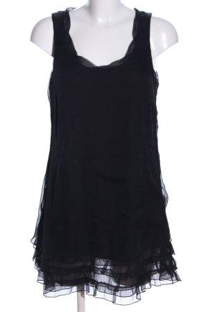 Zero Chiffonkleid schwarz Elegant