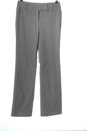 Zero Pantalon zwart-wit geruite print casual uitstraling