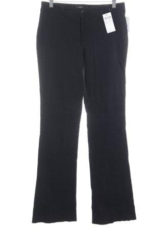 Zero Corduroy Trousers black casual look