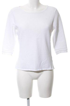 Zero Cropped Shirt weiß Business-Look